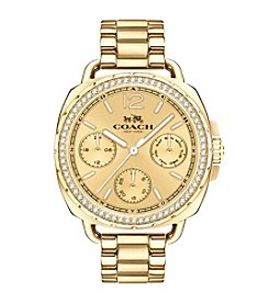 COACH TATUM GOLDTONE SUNRAY DIAL WATCH