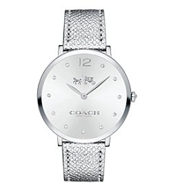 COACH SLIM EASTON STAINLESS STEEL SUNRAY DIAL WATCH
