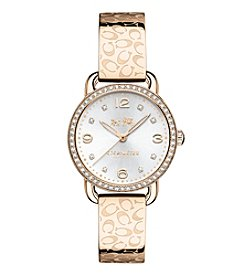 COACH Delancey Carnation Sunray Dial Bangle Watch