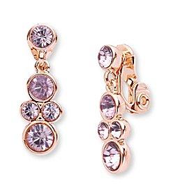 Anne Klein® Rose Goldtone Clip On Linear Earrings