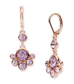Anne Klein® Rose Goldtone Cluster Drop Earrings