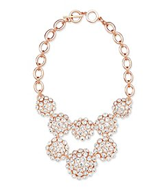 Anne Klein® Rose Goldtone Bib Cluster Necklace