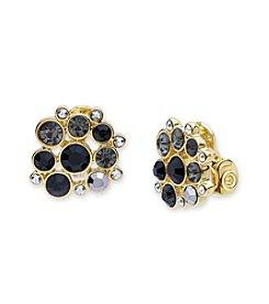Anne Klein® Goldtone Clip On Button Earrings