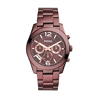 Fossil® Perfect Boyfriend Sport Multifunction Red IP Wat