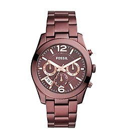 Fossil® Perfect Boyfriend Sport Multifunction Red IP Watch
