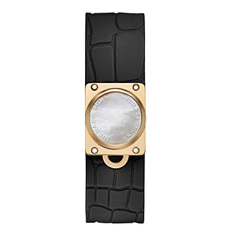Michael Kors® Mother-of-Pearl and Black Silicone Tracker