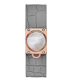 Michael Kors® Mother-of-Pearl and Silicone Strap Tracker Watch