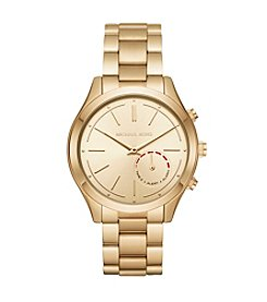 Michael Kors® Women's 42mm Slim Runway Goldtone Hybrid Smartwatch