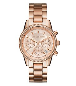 Michael Kors® Ritz Rose Gold Chronograph Watch