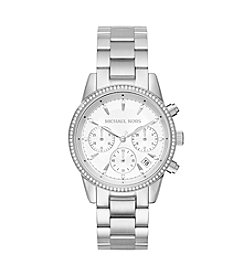 Michael Kors® Ritz Stainless Steel Chronograph Watch