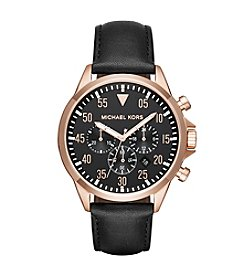 Michael Kors® Gage And Leather Chronograph Watch