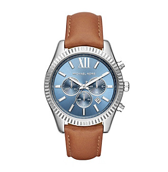 Michael Kors® Lexington Stainless Steel And Leather Chro