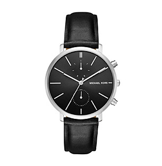 Michael Kors® Jaryn Stainless Steel And Leather Chronogr