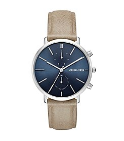 Michael Kors® Jaryn Stainless Steel And Leather Chronograph Watch