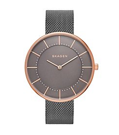 Skagen® Gitte Steel Mesh Watch