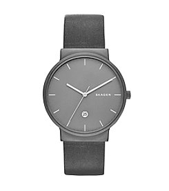 Skagen Ancher Titanium & Leather Watch