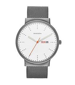 Skagen® Ancher Titanium and Steel Mesh Watch