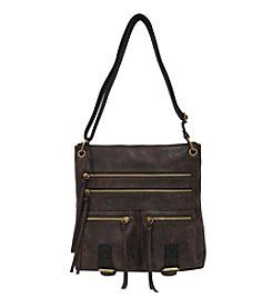 GAL Multi Zip Nubuck Crossbody