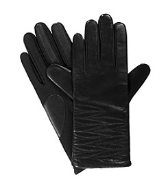 Isotoner® Signature Stretch Leather smarTouch® Quilted Gloves