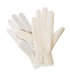 Isotoner® Signature Hybrid Gloves With Contrast Hem
