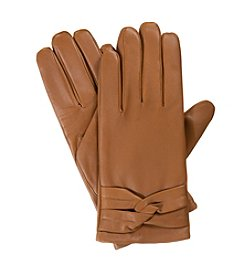 Isotoner® Women's Signature Leather with Twisted Belt Gloves
