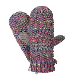 Isotoner® Signature Space-Dye Roving Texture Stitch SherpaSoft Mittens