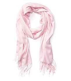 Charge Against Breast Cancer Pashmina Solid Feel Scarf With Fringe