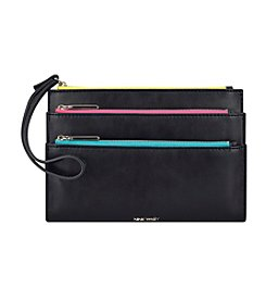 Nine West Tri Zip Wristlet