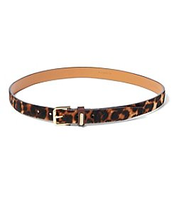 Lauren Ralph Lauren® Leopard-Print Haircalf Belt