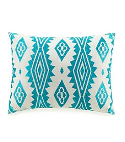 Jessica Simpson Aqua Floral Decorative Pillow