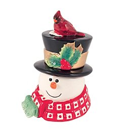 Fitz & Floyd® Holly Berry Snowman Lidded Box