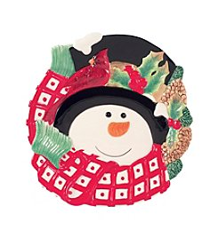 Fitz & Floyd® Holly Berry Snowman Canape Plate