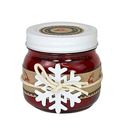 Deco Glow 5-oz. Rustic Apple Spice Holiday Mason Jar Candle