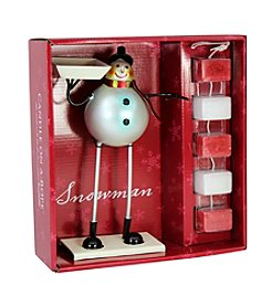 Deco Glow Snowman Candle On A Rope Set