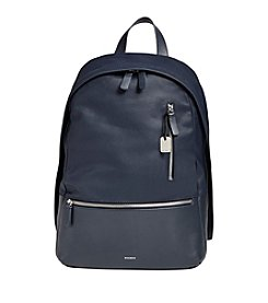 Skagen® Kroyer Leather and Canvas Backpack