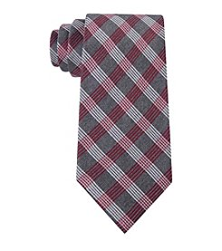Calvin Klein Red Hot Plaid Tie