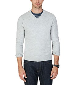 Nautica® Men's Snowy V-Neck Sweater