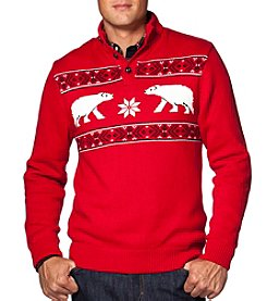 Chaps® Men's Button Mock Neck Sweater