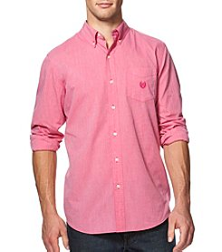 Chaps® Men's Easy-Care Woven Long Sleeve Button Down Shirt