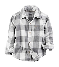 Carter's® Boys' 2T-8 Long Sleeve Buffalo Plaid Shirt