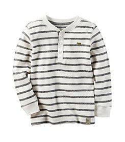 Carter's® Boys' 2T-8 Striped Thermal Henley