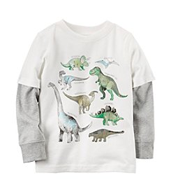 Carter's® Boys' 2T-8 Layered Dino Tee
