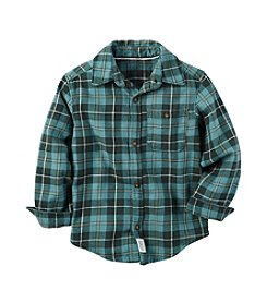 Carter's® Boys' 2T-8 Long Sleeve Plaid Shirt