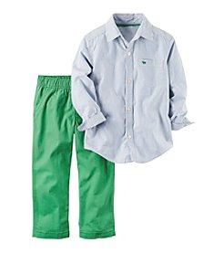Carter's® Boys' 2T-4T 2-Piece Striped Shirt and Pants Set