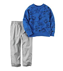 Carter's® Boys' 2T-4T 2-Piece Dino Sweatshirt and Joggers Set
