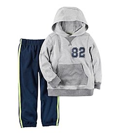 Carter's® Boys' 2T-4T 2-Piece Hoodie and Striped Joggers Set