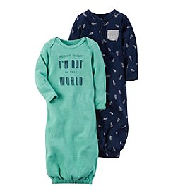 Carter's® Baby Boys' 2-Pack Out Of This World Gowns