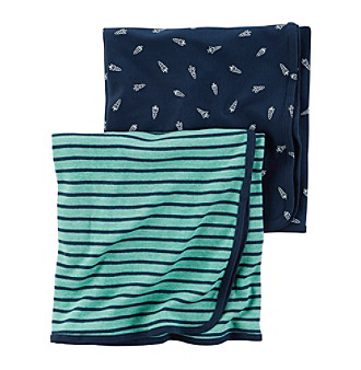 Carter's® Baby Boys' 2-Pack Space Swaddle Blankets