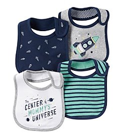 Carter's® Baby Boys' 4-Pack Space Bibs