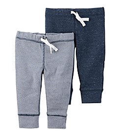 Carter's® Baby Boys' 2-Pack Striped Heather Pants
